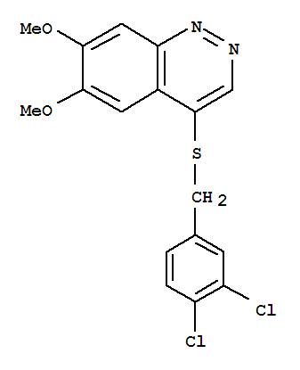 5388-40-9,Cinnoline, 4-[[(3,4-dichlorophenyl)methyl]thio]-6,7-dimethoxy-,Cinnoline, 4-[(3,4-dichlorobenzyl)thio]-6,7-dimethoxy-(7CI,8CI); NSC 64814