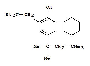 5427-81-6,Phenol,2-cyclohexyl-6-[(diethylamino)methyl]-4-(1,1,3,3-tetramethylbutyl)-,o-Cresol,6-cyclohexyl-a-(diethylamino)-4-(1,1,3,3-tetramethylbutyl)-(8CI); NSC 13106