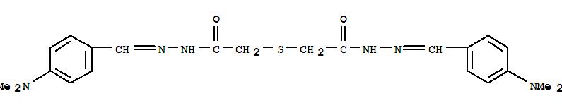5447-25-6,Aceticacid, thiodi-, bis[[p-(dimethylamino)benzylidene]hydrazide] (6CI,8CI),NSC16878