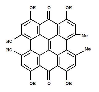 Molecular Structure of 548-04-9 (Hypericin)