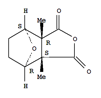 Molecular Structure of 56-25-7 (4,7-Epoxyisobenzofuran-1,3-dione,hexahydro-3a,7a-dimethyl-, (3aR,4S,7R,7aS)-rel-)