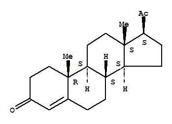 Molecular Structure of 57-83-0 (Progesterone)