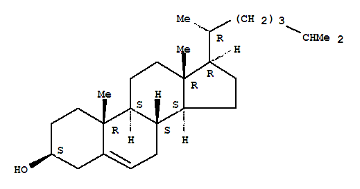 Molecular Structure of 57-88-5 (Cholest-5-en-3-ol(3b)-)