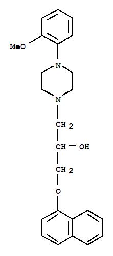 Molecular Structure of 57149-07-2 (Naftopidil dihydrochloride)