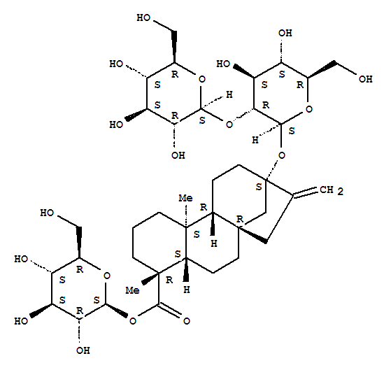 Molecular Structure of 57817-89-7 (Stevioside)