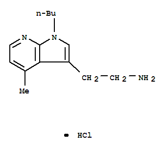 5791-76-4,1H-Pyrrolo[2,3-b]pyridine-3-ethanamine,1-butyl-4-methyl-, hydrochloride (1:1),1H-Pyrrolo[2,3-b]pyridine,3-(2-aminoethyl)-1-butyl-4-methyl-, hydrochloride (7CI,8CI);1H-Pyrrolo[2,3-b]pyridine-3-ethanamine, 1-butyl-4-methyl-, monohydrochloride(9CI)