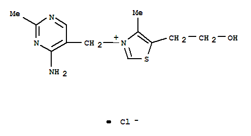 Molecular Structure of 59-43-8 (Thiamine chloride)