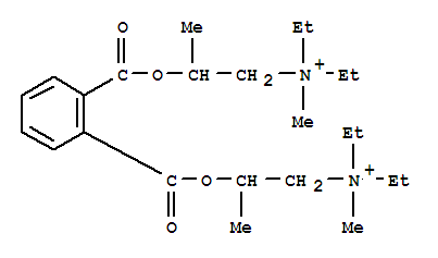59329-65-6,1-Propanaminium,2,2'-[1,2-phenylenebis(carbonyloxy)]bis[N,N-diethyl-N-methyl- (9CI),Ammonium,diethyl(2-hydroxypropyl)methyl-, diester with phthalic acid (6CI); BK 105; BK 105 (enzyme inhibitor)