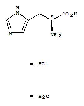 Molecular Structure of 5934-29-2 (L-Histidine hydrochloride monohydrate)