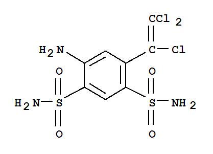 Molecular Structure of 60200-06-8 (1,3-Benzenedisulfonamide,4-amino-6-(1,2,2-trichloroethenyl)-)