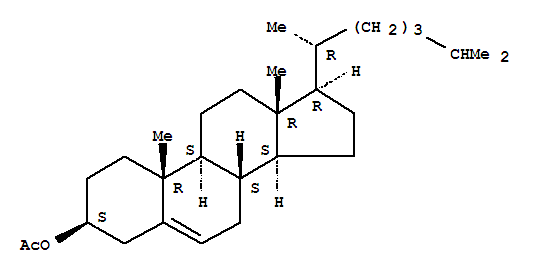 Molecular Structure of 604-35-3 (Cholest-5-en-3-ol(3b)-, acetate)