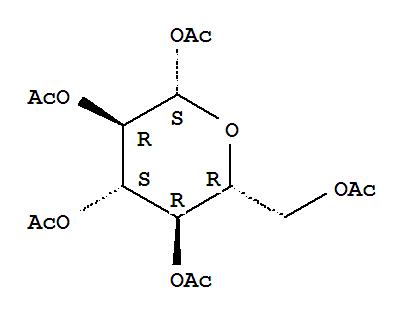 Molecular Structure of 604-69-3 (b-D-Glucopyranose, 1,2,3,4,6-pentaacetate)
