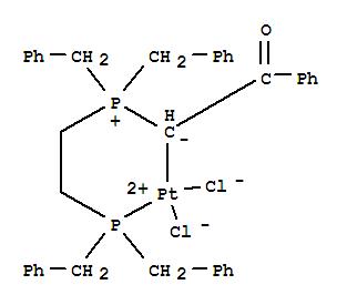 60817-04-1,Platinum,[[2-[bis(phenylmethyl)phosphino]ethyl]bis(phenylmethyl)phosphonium (1-h)-2-oxo-2-phenylethylide-PP]dichloro-,(SP-4-3)- (9CI),Phosphonium, [2-[bis(phenylmethyl)phosphino]ethyl]bis(phenylmethyl)-,2-oxo-2-phenylethylide, platinum complex; NSC 294923