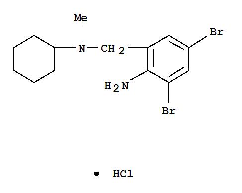 Molecular Structure of 611-75-6 (Benzenemethanamine,2-amino-3,5-dibromo-N-cyclohexyl-N-methyl-, hydrochloride (1:1))