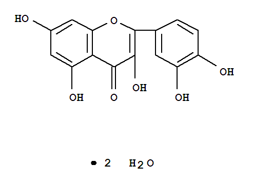 Molecular Structure of 6151-25-3 (Quercetin dihydrate)