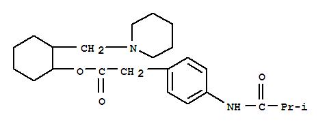 6199-39-9,Benzeneacetic acid, 4-[(2-methyl-1-oxopropyl)amino]-,2-(1-piperidinylmethyl)cyclohexyl ester,Aceticacid, (p-isobutyramidophenyl)-, 2-(piperidinomethyl)cyclohexyl ester(7CI,8CI)