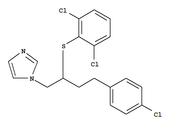 Molecular Structure of 64872-77-1 (Butoconazole nitrate)
