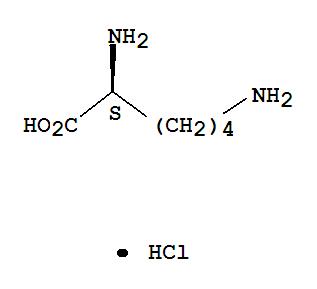 Molecular Structure of 657-27-2 (L-Lysine hydrochloride)