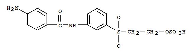 Molecular Structure of 66056-51-7 (Benzamide, 4-amino-N-[3-[[2-(sulfooxy)ethyl]sulfonyl]phenyl]-)