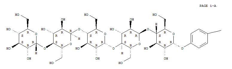 a-D-Glucopyranoside, 4-nitrophenyl O-a-D-glucopyranosyl-(1®4)-O-a-D-glucopyranosyl-(1®4)-O-a-D-glucopyranosyl-(1®4)-O-a-D-glucopyranosyl-(1®4)-