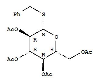 Molecular Structure of 6612-63-1 (b-D-Glucopyranoside, phenylmethyl1-thio-, 2,3,4,6-tetraacetate)