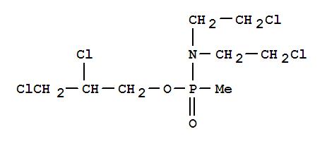 6651-03-2,Phosphonamidic acid, N,N-bis(2-chloroethyl)-P-methyl-,2,3-dichloropropyl ester,NSC66980