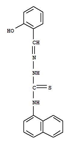 Molecular Structure of 6964-81-4 (Hydrazinecarbothioamide, 2-[(2-hydroxyphenyl)methylene]-N-1-naphthalenyl-)