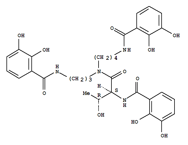 70393-51-0,Benzamide,N-[3-[[4-[(2,3-dihydroxybenzoyl)amino]butyl][(2S,3R)-2-[(2,3-dihydroxybenzoyl)amino]-3-hydroxy-1-oxobutyl]amino]propyl]-2,3-dihydroxy-,Benzamide,N-[3-[[4-[(2,3-dihydroxybenzoyl)amino]butyl][2-[(2,3-dihydroxybenzoyl)amino]-3-hydroxy-1-oxobutyl]amino]propyl]-2,3-dihydroxy-,[R-(R*,S*)]-; Agrobactin A