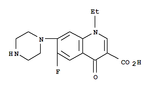 Molecular Structure of 70458-96-7 (Norfloxacin)