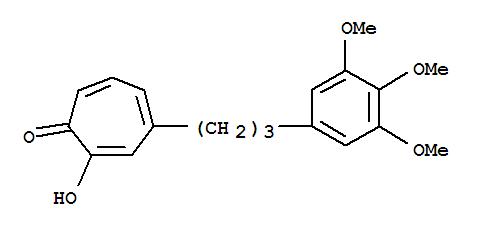7101-40-8,2,4,6-Cycloheptatrien-1-one,2-hydroxy-4-[3-(3,4,5-trimethoxyphenyl)propyl]-,NSC169987; NSC 169989