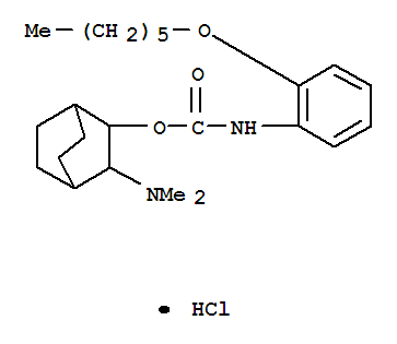 71746-31-1,Carbamicacid, [2-(hexyloxy)phenyl]-, 3-(dimethylamino)bicyclo[2.2.2]oct-2-yl ester,monohydrochloride, cis- (9CI),