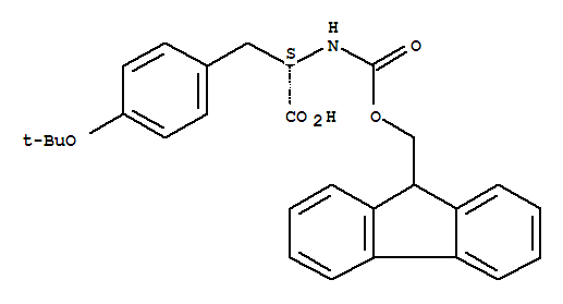 Molecular Structure of 71989-38-3 (L-Tyrosine,O-(1,1-dimethylethyl)-N-[(9H-fluoren-9-ylmethoxy)carbonyl]-)