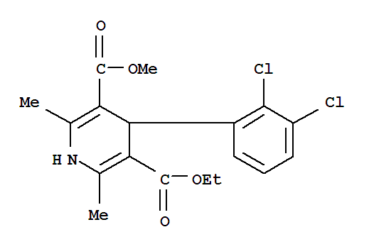 Molecular Structure of 72509-76-3 (Felodipine)