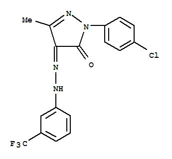 72730-91-7,1H-Pyrazole-4,5-dione,1-(4-chlorophenyl)-3-methyl-, 4-[2-[3-(trifluoromethyl)phenyl]hydrazone],1H-Pyrazole-4,5-dione,1-(4-chlorophenyl)-3-methyl-, 4-[[3-(trifluoromethyl)phenyl]hydrazone] (9CI);NSC 270454