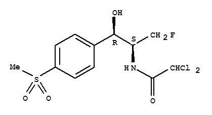 73231-34-2,Florfenicol,Acetamide,2,2-dichloro-N-[1-(fluoromethyl)-2-hydroxy-2-[4-(methylsulfonyl)phenyl]ethyl]-,[R-(R*,S*)]-;(-)-Florfenicol;Aquafen;Aquaflor;Floron;Nuflor;Sch 25298;Florfeniol;