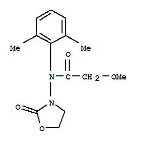 Molecular Structure of 77732-09-3 (Acetamide,N-(2,6-dimethylphenyl)-2-methoxy-N-(2-oxo-3-oxazolidinyl)-)