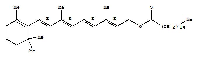 Molecular Structure of 79-81-2 (Retinol palmitate)