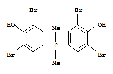 Molecular Structure of 79-94-7 (Phenol,4,4'-(1-methylethylidene)bis[2,6-dibromo-)