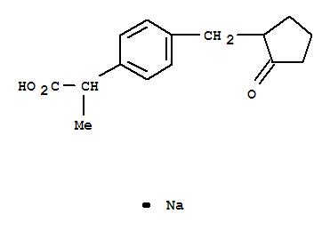 Molecular Structure of 80382-23-6 (Loxoprofen sodium)