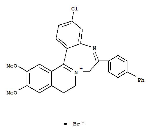82802-96-8,7H-Isoquino[2,1-d][1,4]benzodiazepin-8-ium,6-[1,1'-biphenyl]-4-yl-3-chloro-9,10-dihydro-12,13-dimethoxy-, bromide (9CI),