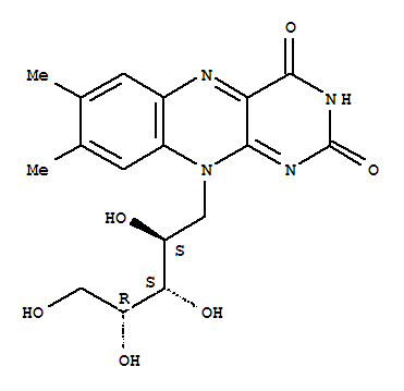 Molecular Structure of 83-88-5 (Riboflavin)