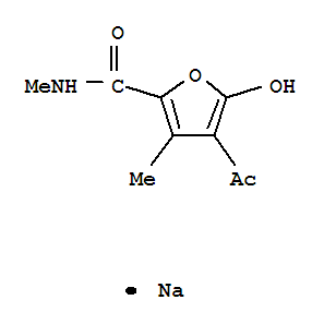 84912-09-4,2-Furancarboxamide,4-acetyl-5-hydroxy-N,3-dimethyl-, sodium salt (1:1),2-Furancarboxamide,4-acetyl-5-hydroxy-N,3-dimethyl-, monosodium salt (9CI)