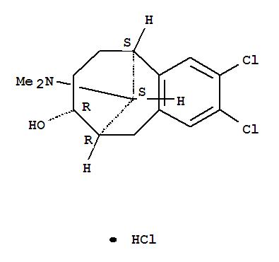 85798-66-9,5,9-Methanobenzocycloocten-8-ol,2,3-dichloro-11-(dimethylamino)-5,6,7,8,9,10-hexahydro-, hydrochloride, (5α,8α,9α,11R*)- (9CI),(5α,8α,9α,11R*)-2,3-Dichloro-11-(dimethylamino)-5,6,7,8,9,10-hexahydro-5,9-methanobenzocycloocten-8-ol hydrochloride;
