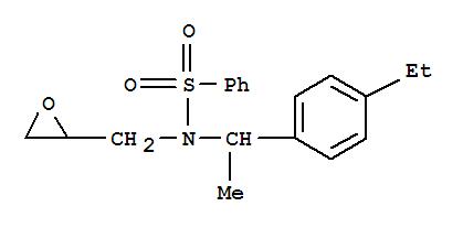 87690-41-3,Benzenesulfonamide,N-[1-(4-ethylphenyl)ethyl]-N-(2-oxiranylmethyl)-,Benzenesulfonamide, N-[1-(4-ethylphenyl)ethyl]-N-(oxiranylmethyl)- (9CI)