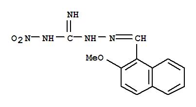 91769-11-8,Guanidine,1-[[(2-methoxy-1-naphthyl)methylene]amino]-3-nitro-(7CI),NSC525811