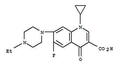 Molecular Structure of 93106-60-6 (Enrofloxacin)