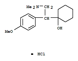 Molecular Structure of 99300-78-4 (Venlafaxine hydrochloride)
