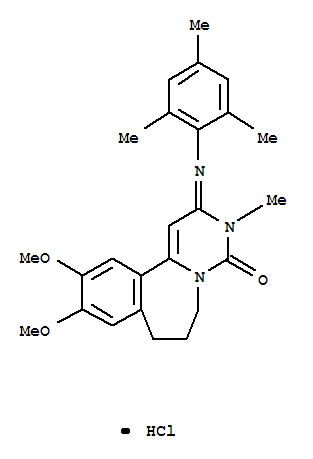 108446-06-6,Pyrimido[6,1-a][2]benzazepin-4(3H)-one,2,6,7,8-tetrahydro-10,11-dimethoxy-3-methyl-2-[(2,4,6-trimethylphenyl)imino]-,hydrochloride (1:1),Pyrimido[6,1-a][2]benzazepin-4(3H)-one,2,6,7,8-tetrahydro-10,11-dimethoxy-3-methyl-2-[(2,4,6-trimethylphenyl)imino]-,monohydrochloride (9CI)