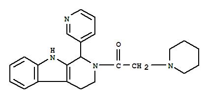 110785-22-3,Ethanone,2-(1-piperidinyl)-1-[1,3,4,9-tetrahydro-1-(3-pyridinyl)-2H-pyrido[3,4-b]indol-2-yl]-,1H-Pyrido[3,4-b]indole,2,3,4,9-tetrahydro-2-(1-piperidinylacetyl)-1-(3-pyridinyl)- (9CI)