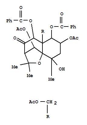 111950-43-7,4H-3,9a-Methano-1-benzoxepin-4-one,7,10-bis(acetyloxy)-5a-[(acetyloxy)methyl]-5,6-bis(benzoyloxy)octahydro-9-hydroxy-2,2,9-trimethyl-,(3R,5S,5aS,6R,7S,9S,9aS,10R)-,4H-3,9a-Methano-1-benzoxepin-4-one,7,10-bis(acetyloxy)-5a-[(acetyloxy)methyl]-5,6-bis(benzoyloxy)octahydro-9-hydroxy-2,2,9-trimethyl-,[3R-(3a,5a,5aa,6a,7a,9b,9aa,10R*)]-; Triptofordin E